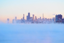 City in the Clouds that is what Chicagos skyline looked like today -F