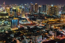 City lights of Metro Manila