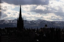 City meets earth Edinburgh Scotland