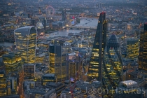 City of London at dusk by Jason Hawkes
