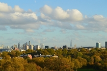 City of London Skyline from Primrose Hill October