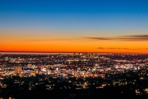 City of Santa Monica as seen from the Griffith Observatory