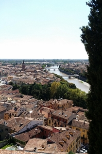 City of Verona Italy with the River Adige meandering through it
