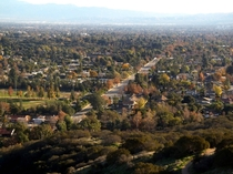 Claremont California from foothills