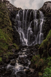 Clashnessie falls in the North-west Highlands  x