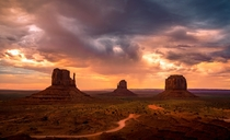 Classic beautiful shot of Monument Valley Arizona USA by Thor Mller
