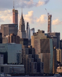 Classic  modern and futuristic skyscrapers forming the interesting skyline of New York