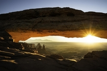 Classic Sunrise at the Mesa Arch in Canyonlands National Park
