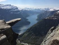 Classic View of Trolltunga with Ringedalsvatnet Norway