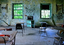 Classroom in Abandoned Childrens Hospital Maryland