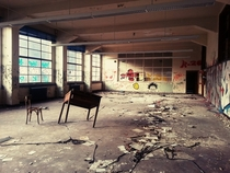 Classroom in an abandoned university Belgium x