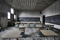 Classroom Inside an Abandoned Church amp School In New York State
