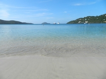 Clear blue water in Magens Bay St Thomas USVI
