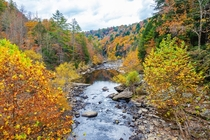 Clear Creek fall colors at Obed Wild and Scenic River Tennessee