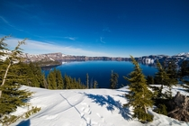 Clear Day at Crater Lake Oregon OC