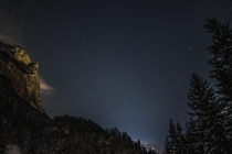 Clear night in the mountains