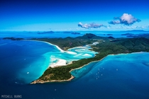 Clear water and white sands of Whitsunday Island Australia  Photo by Mitchell Burns