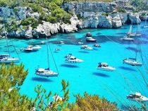 Clear Waters at Minorca Spain