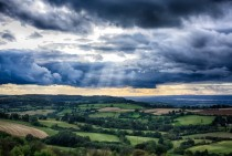 Clearing storm over the Cotswolds England