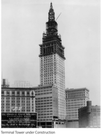 Cleveland Ohio Terminal Tower amp Union Station constructed - At  it was the tallest building in the world outside NYC until  Graham Anderson Probst amp White architects  photo Case Western Reserve University