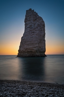 Cliff at sunset tretat-Normandy France
