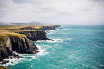 Cliffs along the coast near Dingle Ireland x