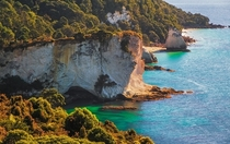 Cliffs at Cathedral Cove Coromandel Peninsula New Zealand