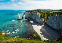 Cliffs Of Etretat And Yport France  by Tim Geers