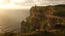 Cliffs of Moher during sunset