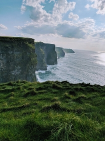 Cliffs of Moher Ireland - When in Ireland just keep going west Its absolutely worth it  OC