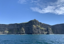 Cliffs of Moher Republic of Ireland Took this photo from the top deck of a boat cruise Got slightly seasick but it was totally worth it