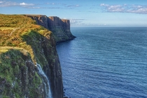 Cliffs off Isle of Skye Scotland