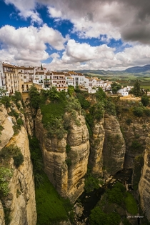 Clifftop village of Ronda in Andalusia Spain