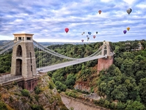 Clifton Suspension Bridge Bristol UK Built in  It spans m over the Avon Gorge and River Avon
