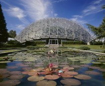 Climatron a geodesic dome greenhouse designed by R Buckminster Fuller Missouri Botanical Garden St Louis