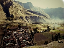 Climbed a mountain Took a picture Sacred Valley Peru
