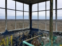 Climbed an abandoned lookout tower
