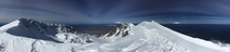 Climbed Mount St Helens yesterday Heres a panorama of the summit and crater