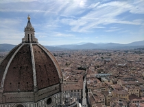 Climbed  steps to get this view of the Florence Cathedral