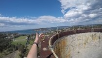 Climbed to the top of a chimney at an abandoned power station Wangi Wangi Australia