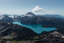 Climbed up the Black Tusk in Garibaldi Park Canada two days ago and im still struggling to walk But so worth it for this view of Garibaldi Lake