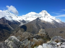 Climbing a mountain in Huaraz Peru
