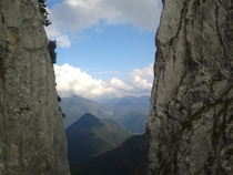 Climbing in the Bavarian Alps