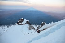 Climbing in the Shadow of Mt Hood OR