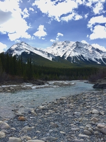 Cline River in the Canadian Rockies Alberta Canada