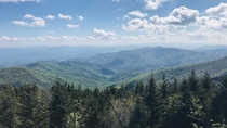 Clingmans Dome Appalachian Trail - This is a photo I took after a  day backpacking trip to the highest point along the Appalachian Trail  OC