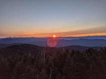 Clingmans Dome at Sunrise Smokey Mountains