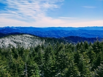 Clingmans Dome in the Great Smokey Mountains NC taken on April st accessible for the first time in