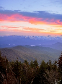 Clingmans Dome Sunset Great Smoky Mountains North CarolinaTennessee Border