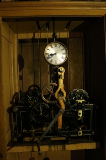 Clock in an abandoned building